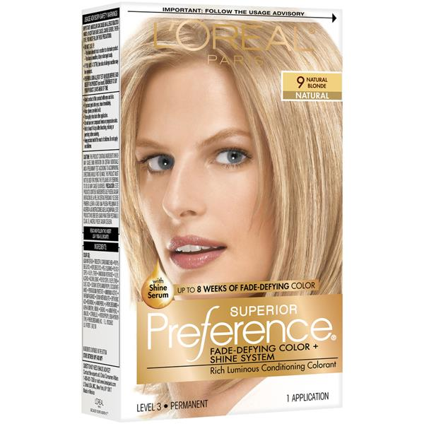 Loreal Paris Superior Preference Natural 9 Natural Blonde Hair