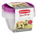 Rubbermaid Take Alongs Deep Squares Containers & Lids 4Ct