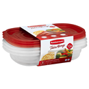 Rubbermaid 3.7 Cups Take Alongs Divided Rectangle Containers + Lids