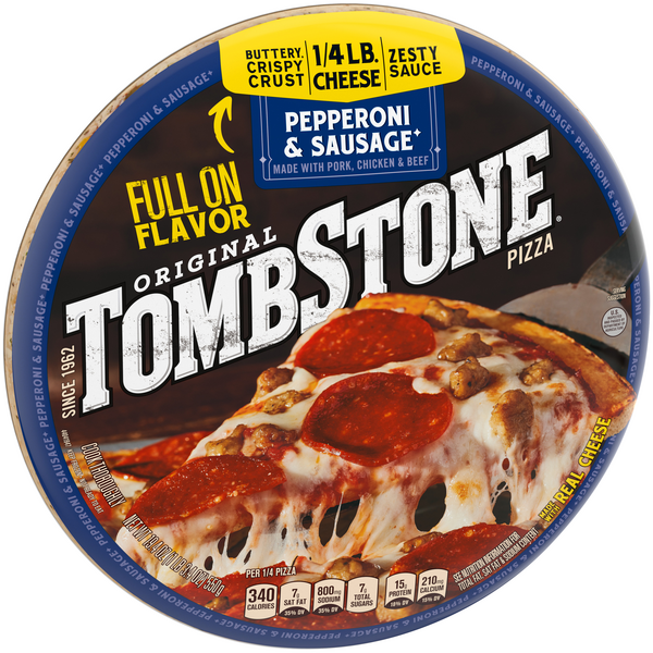 Tombstone Original Pepperoni & Sausage Frozen Pizza