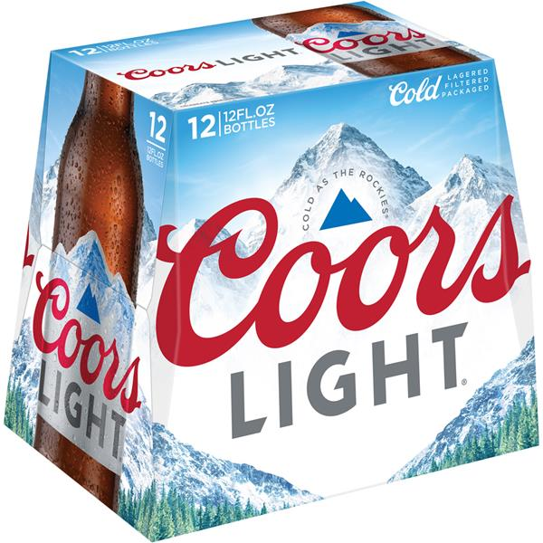 Coors Light Beer 12 Pack