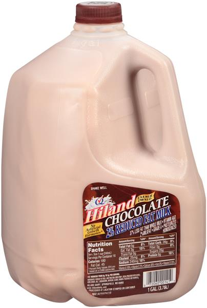 hiland 2 reduced fat chocolate milk 1 gal jug hyvee