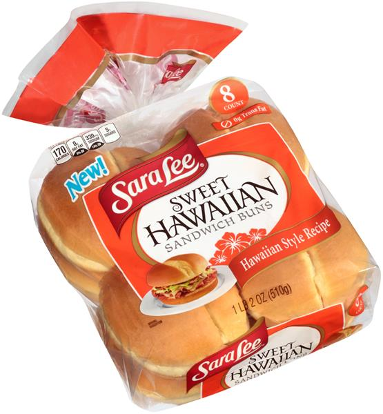 Sara Lee Sweet Hawaiian Sandwich Buns 8 Count