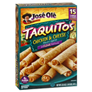 Jose Ole Taquitos Flour Tortillas Chicken & Cheese 15Ct