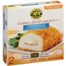 Barber Foods Cordon Bleu Breaded Fully Cooked Stuffed Chicken Breasts 2 ct Box