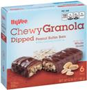 Hy-Vee Chewy Granola Dipped Peanut Butter Bars 6Ct