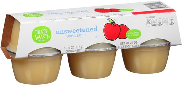 That's Smart! Unsweetened Applesauce 6 Pk