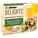 Jimmy Dean Delights Breakfast Wrap, Spinach and Bacon 4Ct