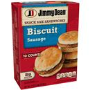 Jimmy Dean Snack Size Sandwiches Biscuit Sausage 10Ct