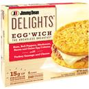 Jimmy Dean Delights Egg'wich Ham, Peppers, Mushroom, Bacon & Onion with Turkey Sausuage & Cheese 4 Count
