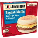 Jimmy Dean Muffin Sandwiches Sausage, Egg, & Cheese 4Ct
