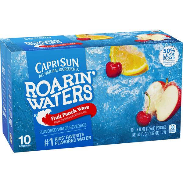 Capri Sun Roarin' Waters Fruit Punch Wave 10-6 fl oz Pouches