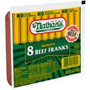 Nathan's Famous Skinless Beef Franks 8 Count