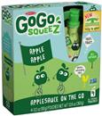 GoGo Squeez Applesauce On the Go Apple Apple 4Pk