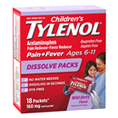 Children's Tylenol Pain+Fever Dissolve Packs Wild Berry Flavor Ages 6-11