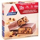 Atkins Chocolate Chip Cookie Dough Protein-Rich Meal Bars 5-2.12 oz. Bars