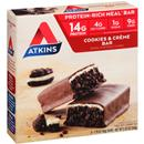 Atkins Cookies & Creme Protein-Rich Meal Bar 5-1.76 oz Bars