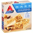 Atkins White Chocolate Macadamia Nut Bar Snack Bars 5-1.41 oz Bars