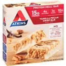 Atkins Protein-Rich Meal Bar Vanilla Pecan Crisp Bar 5-1.69 oz Bars