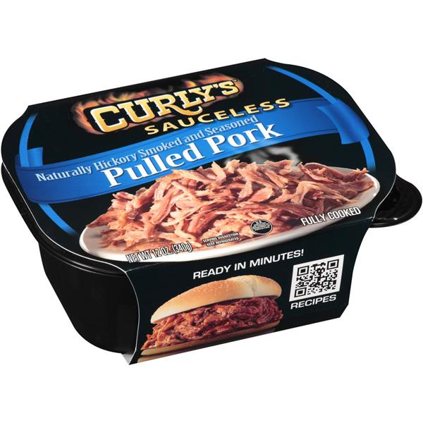 Curly's Sauceless Naturally Hickory Smoked and Seasoned Pulled Pork