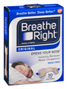 Breathe Right Nasal Strips Original Large Tan
