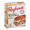Rayberns Pretzel Bread Ham & Swiss Sandwiches 2Ct