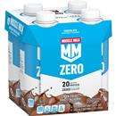 Muscle Milk Chocolate 100 Calorie Non Dairy Protein Shakes 4Pk